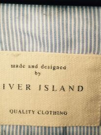 Stunning River Island Summer blue/white jacket.. Very pretty