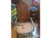 Lovely Bentwood rocking chair SE10 - needs tlc!