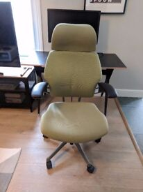 Humanscale Freedom Office Chair With Headrest Light Green