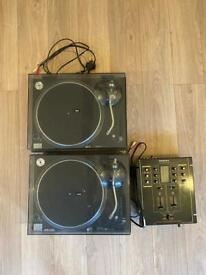 Technics Quartz SL-1210MK5 Turntable Pair