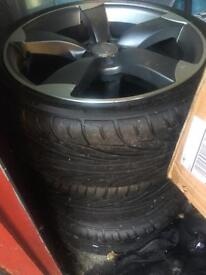 """4 x 18"""" Alloy Wheel with radial tyres (225/40/R18)"""