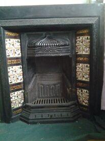 Fireplace, cast iron