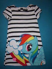 H&M Girls My Little Pony Dress Age 4-6 Years IP1