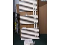 designer radiator, lazarini, way-bari, white tube on tube towel radiator,1120x500mm.