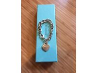 Tiffany & Co. original silver heart tag bracelet with box