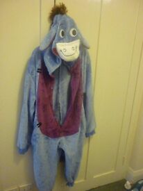 Kids Eeyore Costume. Not sure whether age 3-4 or 4-5 as no label. Perfect for world book day