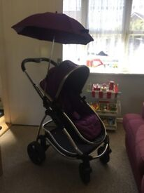 iCandy Strawberry Pushchair - Elderberry Pack