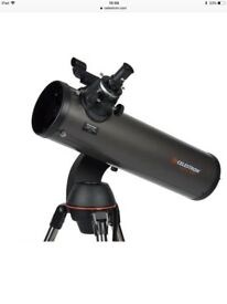 Celestron Nexstar 130 SLT Computerised Telescope with tripod stand.