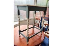 REDUCED Gorgeous upcycled side table ('shabby chic')