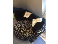 DFS back lounger sofa in black