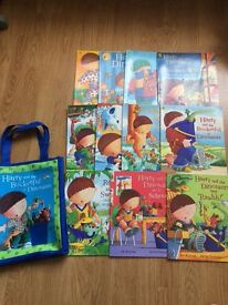 Harry & the Bucketful of Dinosaurs book set in bag