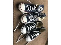 2 Pairs of Converse. Authentic, excellent condition