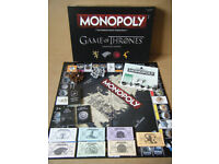 Monopoly (GAME OF THRONES) board game. By Hasbro 2016. Excellent condition.