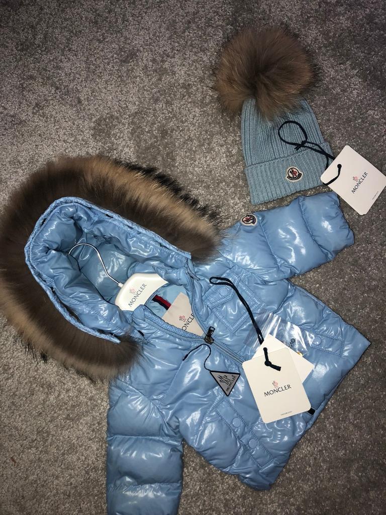 Baby Blue Moncler K2 Jacket & hat