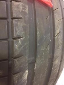 4 pneus d'été 235/40/18 Continental Extreme Contact 30% d'usure, mesure 4-5-8-9/32.