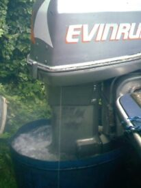EVINRUDE V4 90 HP WITH P.T.T +REMOTES