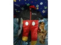 Micky mouse snow suit