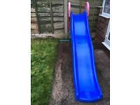 Wavy slide in blue