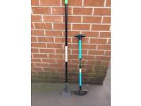 Garden hoe and edging iron