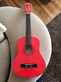 Music Alley 1/2 size guitar in red