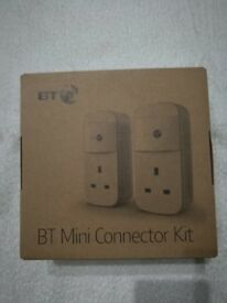 BT Mini Connector Kit - 1GB Twin Powerline Plugs 3859
