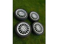 """Rare 18"""" Audi a4 dtm alloys wheels and tyres"""