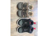 Boy Nike and clarks shoes size 5