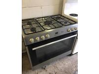Flavel Dual Fuel Range Cooker 90cm wide Stainless Steel Fully Working Vgc £165 Sittingbourne