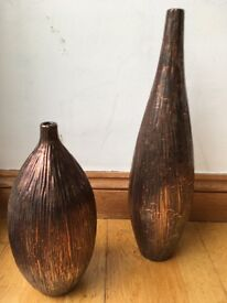 Brand new Ceramic Vases in Copper