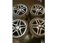 Set of 18inch Mercedes alloys