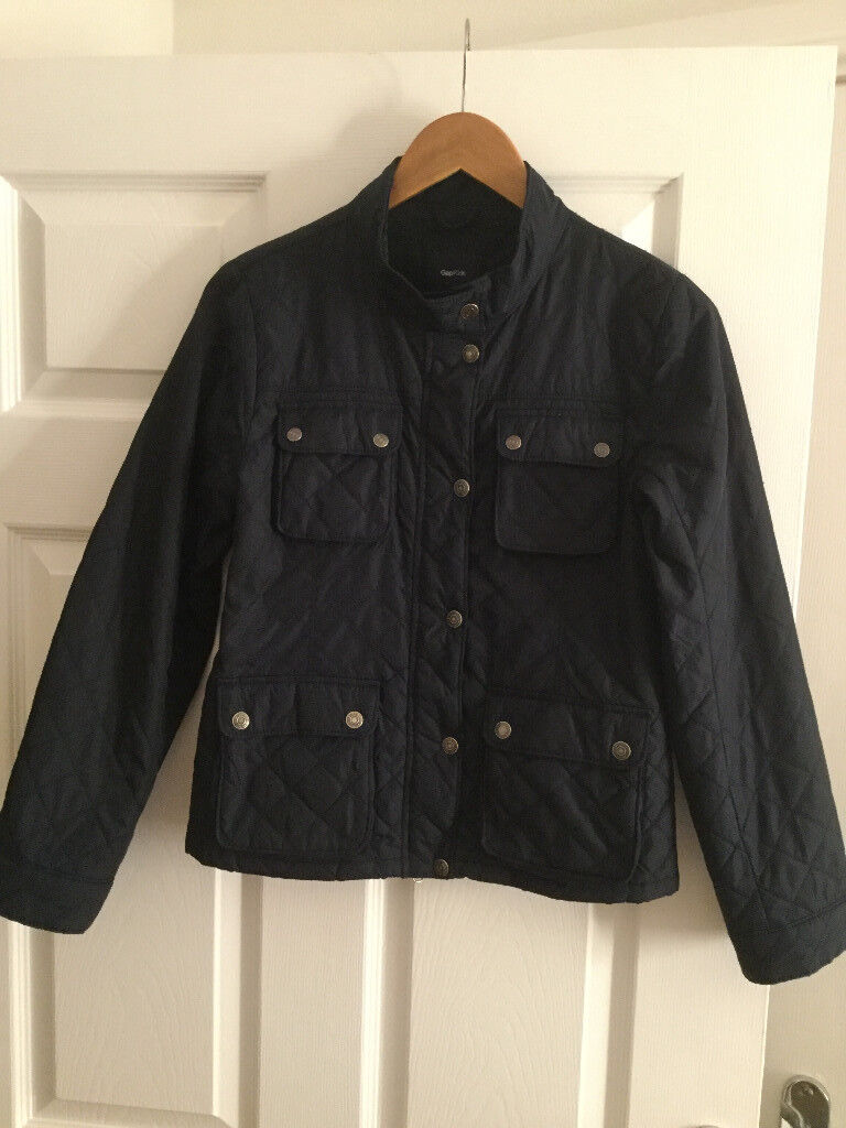 GAP Girls Navy Blue Quilted Jacket