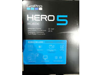 BRAND NEW GOPRO HERO BLACK 5*INCLUDES EXTRAS (SEE DESCRIPTION)*ON OFFER