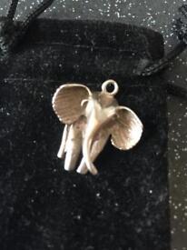 Solid silver 925 Elephant charm
