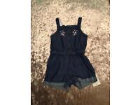 Baby girl denim playsuit 6-9 Months. New with tags