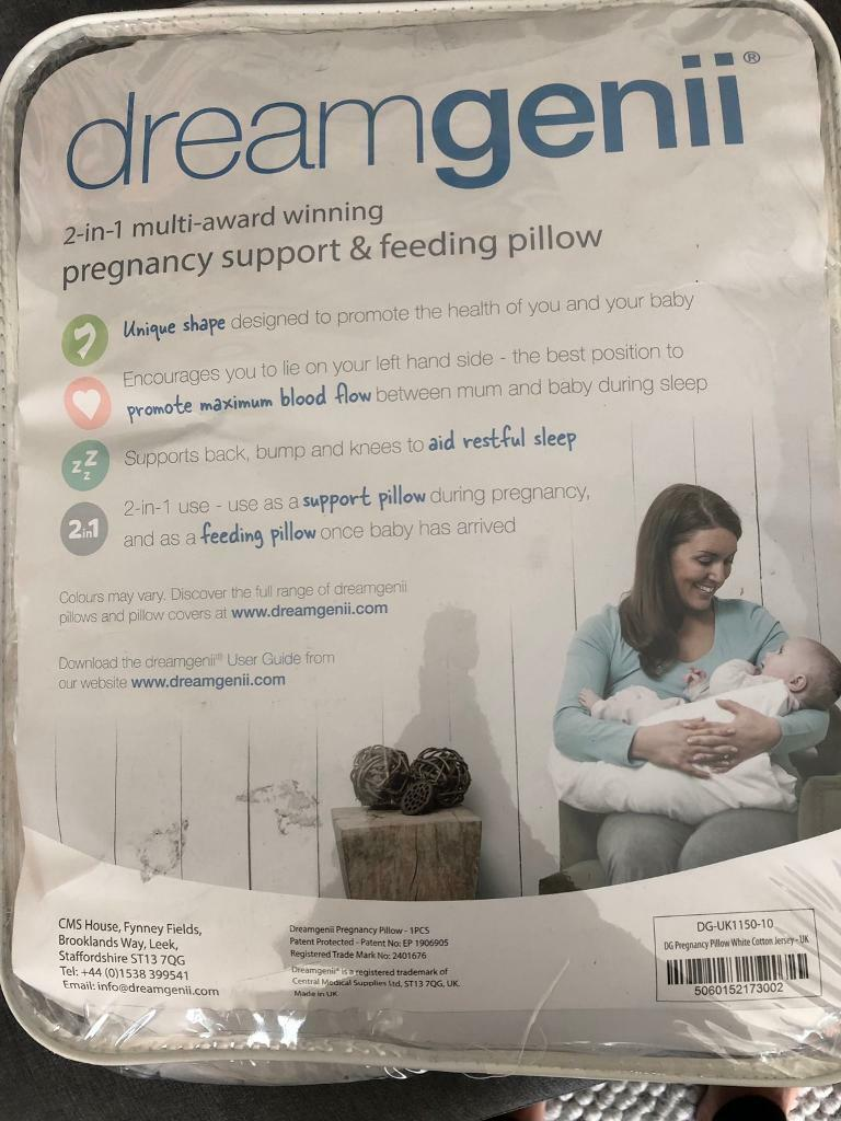Pregnancy and feeding pillow and cover, dream genii  | in Charlton Kings,  Gloucestershire | Gumtree