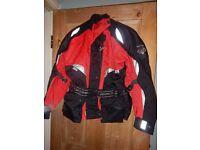 Ladies Motorcycle Jacket Frank Thomas Aqua Size Small (10)