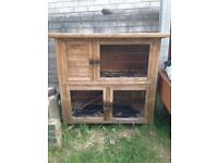2 storey rabbit/guinea pig cage with large run