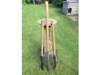 Vintage Hedge Slasher 4ft with wooden handle