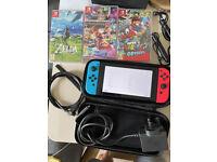 Nintendo Switch Bundle with 3 Games(BoTW, Super Mario Odyssey, Super Mario Kart 8)