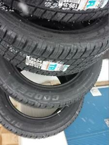 BRAND NEW WITH LABELS COOPER DISCOVERER  HIGH PERFORMANCE ALL SEASON  275 / 55 / 20 TIRES.
