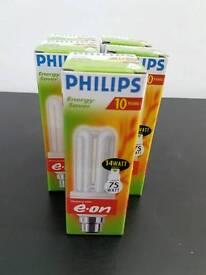 5 x Philips Genie 14W/75W Energy Saver Bayonet Cap