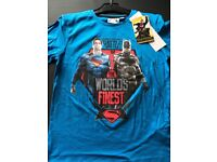 Batman vs Superman T-Shirt - Blue - 10yrs - Brand New with Tags