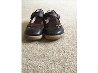 Bobux Girls Brown Suede Shoe size 26 EU
