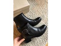 Cafe Noir Black Leather Boots size 3