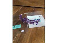 Amanda Wyatt Amethyst purple bridesmaid tiara