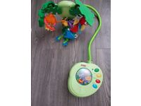 Fisher price peek a boo leaves musical cot mobile