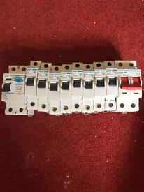 Hager breakers, one Rcd, one main isolation switch