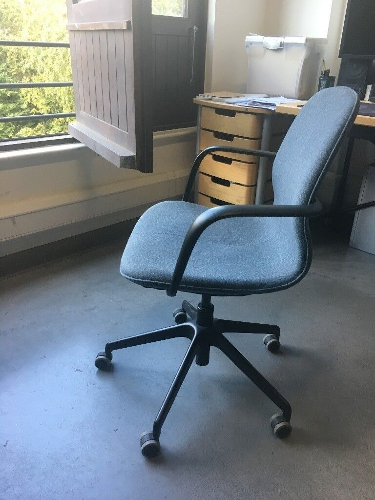 Lovely used IKEA LÅNGFJÄLL swivel office chair, with ...