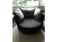 1x swivel chair, large 4 seater sofa, 1x Armchair