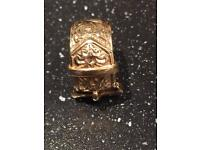 Men's 9ct Gold buckle ring